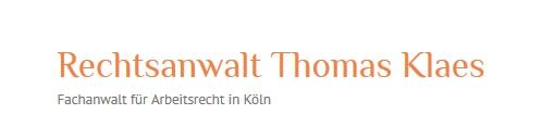 Rechtsanwalt Thomas Klaes Fachanwalt Für Arbeitsrecht In Köln